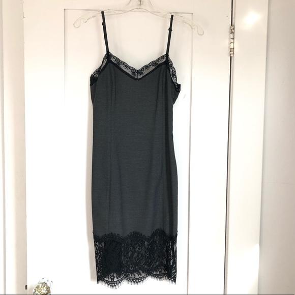 6165da812ca3 Zara Dresses | Trafalac Grey Slip Lace Dress | Poshmark